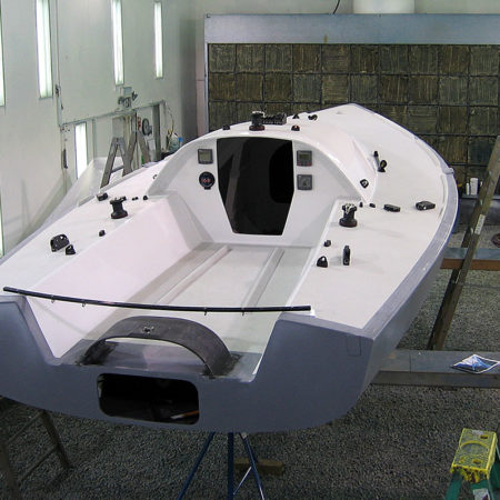 """Acadia"" 21' Mini Transat built at Custom Composite Technologies, Inc."